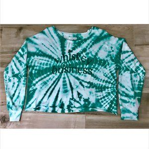 NWT XXL Whiskey Business tie dye crop long sleeve